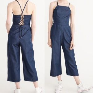 Abercrombie & Fitch Culotte Chambray Jumpsuit